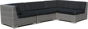 loungeset-grijs-wicker-4delig